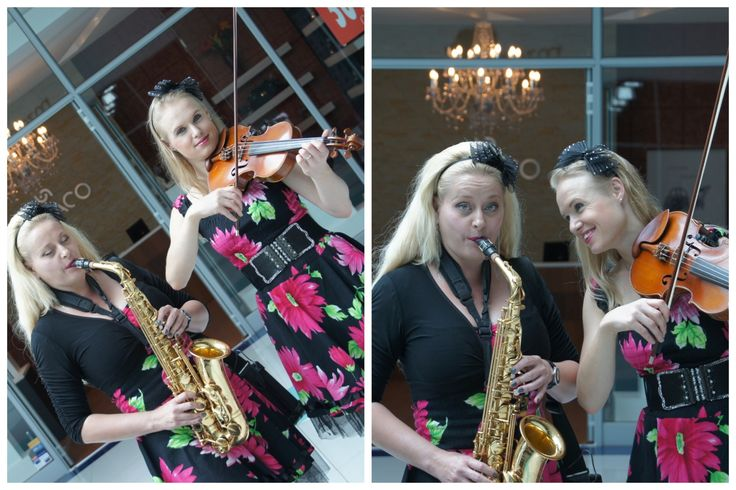 Saxophonist & Violinist duo. Perfect for arrival music at an event or for roaming entertainment. Coordinated by Creative Collective