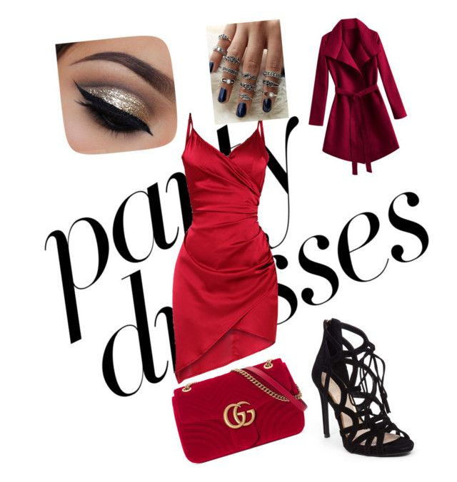 """#PolyPresents: Party Dresses"" by renataoczak on Polyvore featuring Jessica Simpson, Gucci, contestentry and polyPresents"