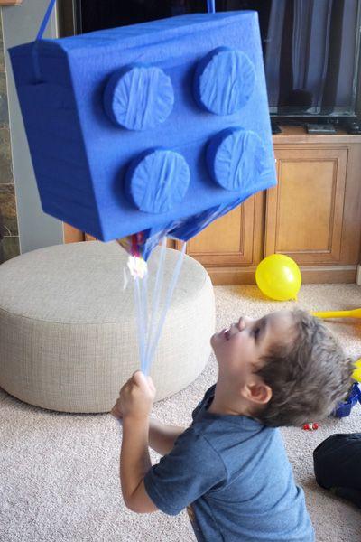 Smash and dash: A DIY Lego piñata is a birthday party smash! #diy #pinata #birthday
