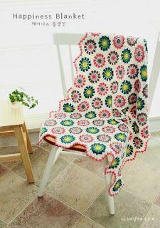 Tina's handicraft : crochet blanket with hexagon motifs