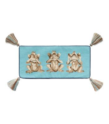 Monkey See Needlepoint Pillow : Tory Burch Home Collection | Toryburch.com | Womens Home