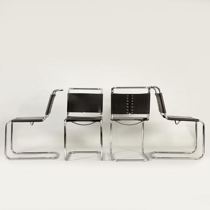 A set of ten marcel breuer bauhaus cantilever chairs