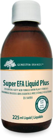 Super EFA Liquid Plus by Genestra is a unique blend of fish oil from sardine and anchovy to specifically assist in overall cardiovascular health, particularly in reducing high serum triglycerides/triacylglycerols levels. Super EFA Liquid Plus contains eicosapentaenoic acid (EPA) and docosahexaenoic acid (DHA) from sardine and anchovy oils in a EPA:DHA ratio of 1.35:1 that supports cardiovascular health. It is a source of omega-3 fatty acids, EPA and DHA for the maintenance of good health.