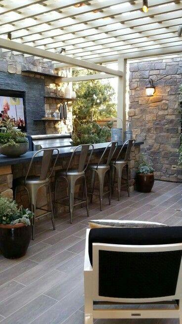 540 Best Summer Outdoor Kitchen Images On Pinterest  Outdoor Awesome Outdoor Kitchen Bar Designs Design Ideas