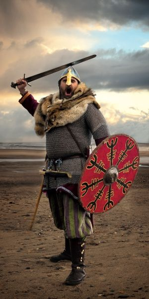 viking facts and pictures | CREDIT (c) York Archaeological Trust JORVIK 2011 warrior1 350x700