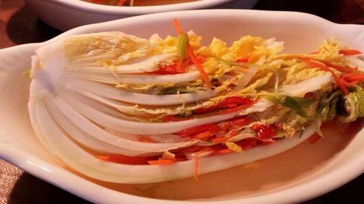 White Kimchi - sweet, sour, crisp, and refreshing.