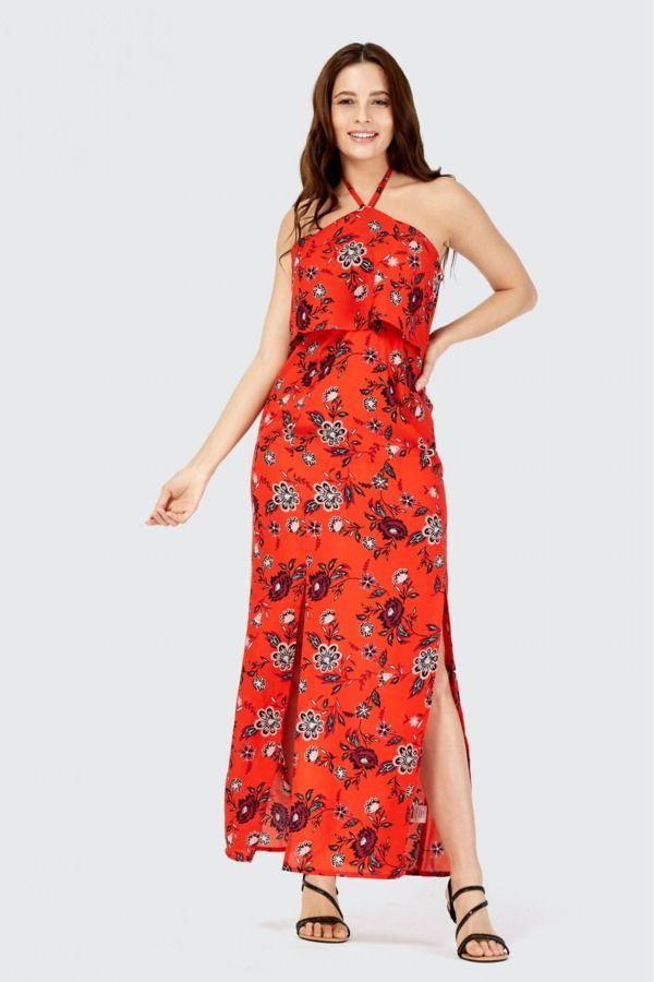 54236c2a192 Bandeau Floral Maxi Dress - Asaan United Kingdom in 2019 | Maxi ...