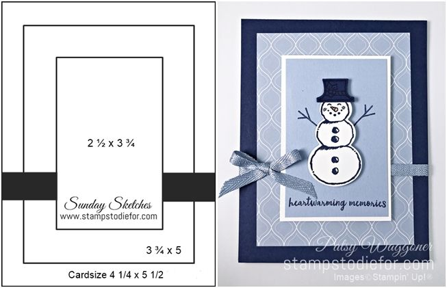 Great News About Snowman Season Stamp Set Punch Card Layout Card Making Templates Card Sketches