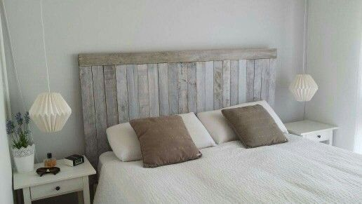 Ideas cabecera hecha con paletas de madera pallets for Paletas madera