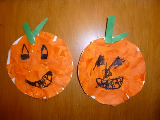 Pumpkin Paper Plate Craft from extra art supplies & 27 best Paper Plate Crafts images on Pinterest | Paper plates Paper ...