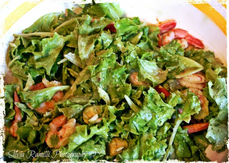 launch on board, delicious salad (the recipe on the blog)