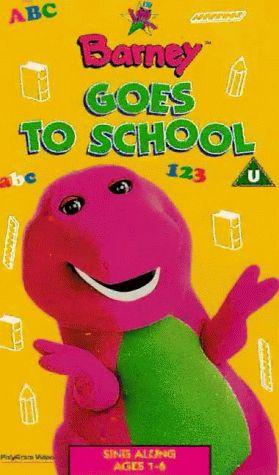 Barney - Barney Goes To School [1995] [VHS]: Barney The Dinosaur: Amazon.co.uk: Video