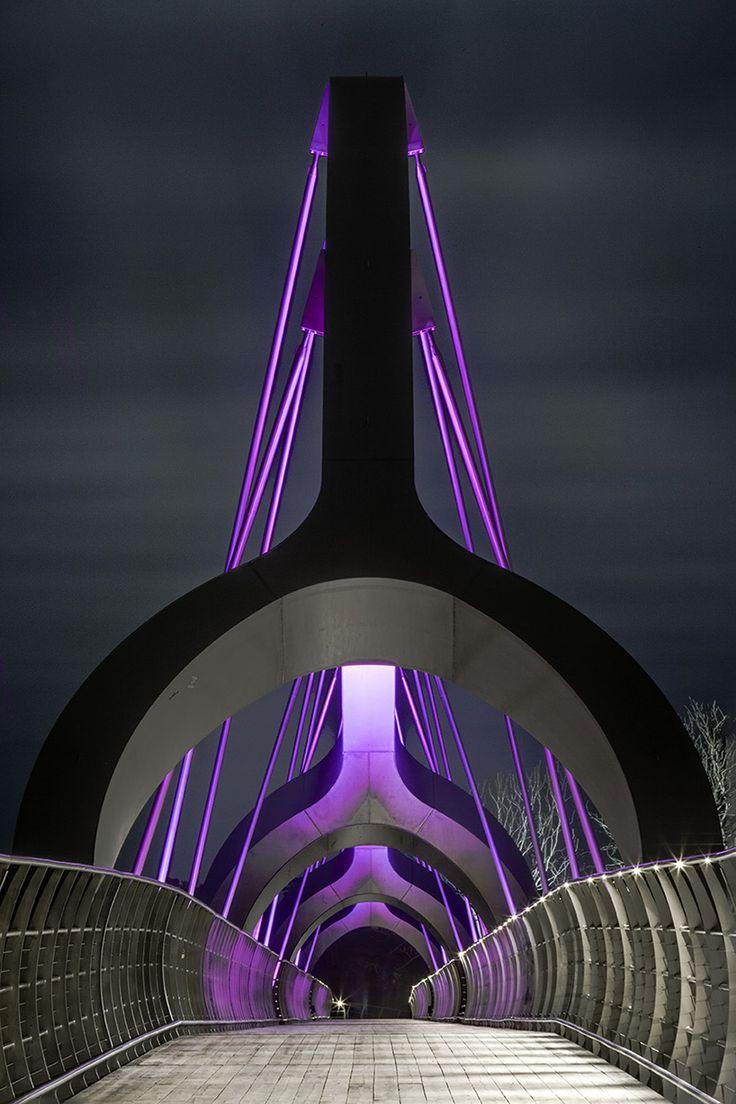 ljusarkitektur illuminates solvesborg bridge in sweden