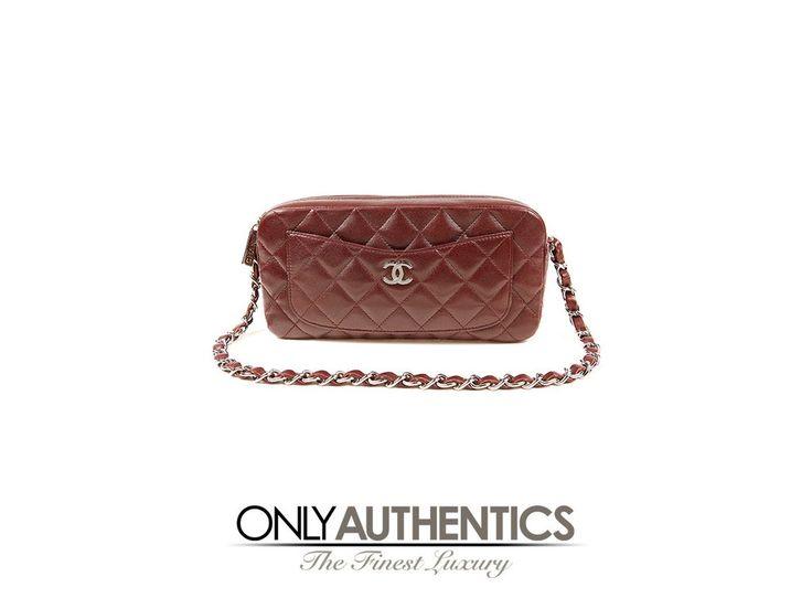 Chanel Burgundy Leather Pocket Camera Bag