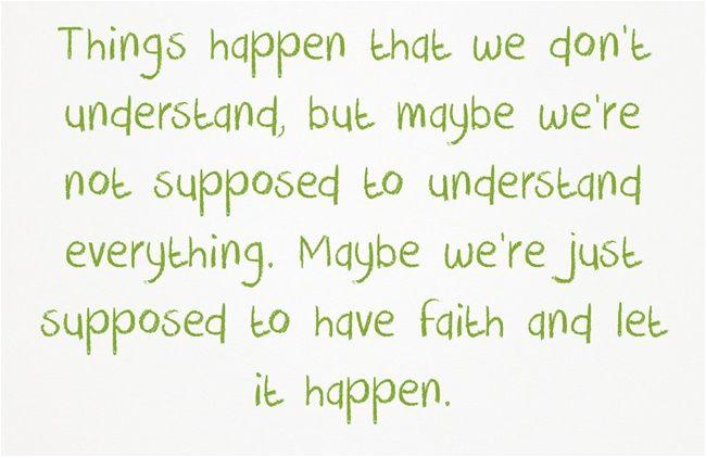 things just happens