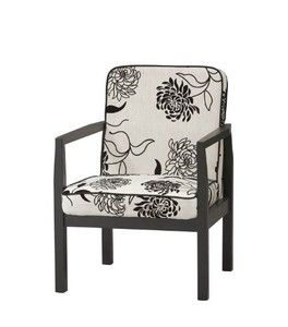Linon Home Decor 36063BWFL-01-KD-U Arista Arm Upholstered Chair