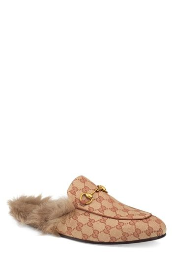 fbfbf4942d96 GUCCI PRINCETOWN DOUBLE G LOAFER MULE WITH GENUINE SHEARLING.  gucci  shoes