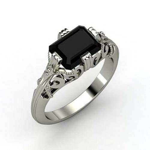 gothic wedding rings concept for victorian bridal theme - Gothic Wedding Ring