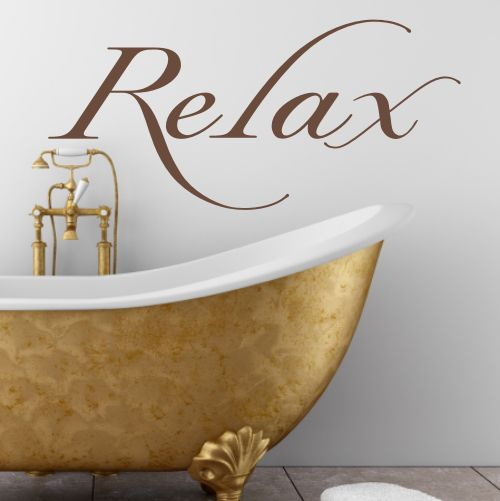 Vinyl Wall Sticker Design Relax Wall Sticker  Looks Great In The Bathroom  Or Bedroom Sizes Available Small W X 26 H Medium W X 32 H Part 40