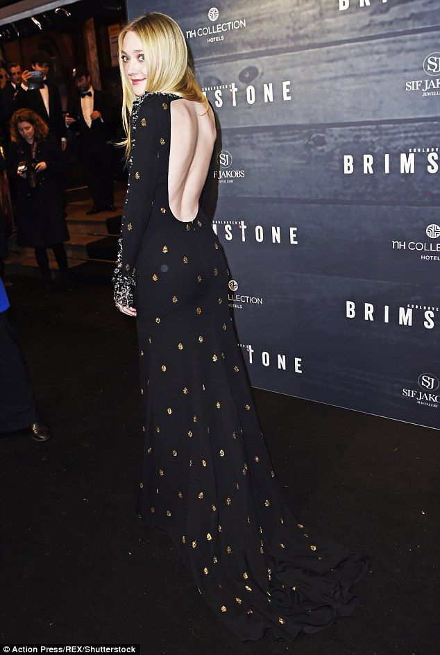Dakota Fanning in Miu Miu at the premiere of Brimstone in Amsterdam on January 9, 2016