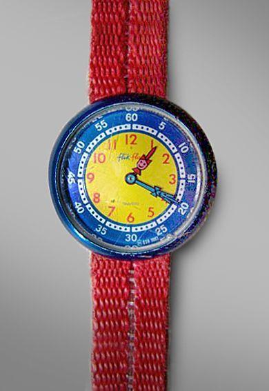 Mijn eerste horloge. Ik had er één in het roze uiteraard.