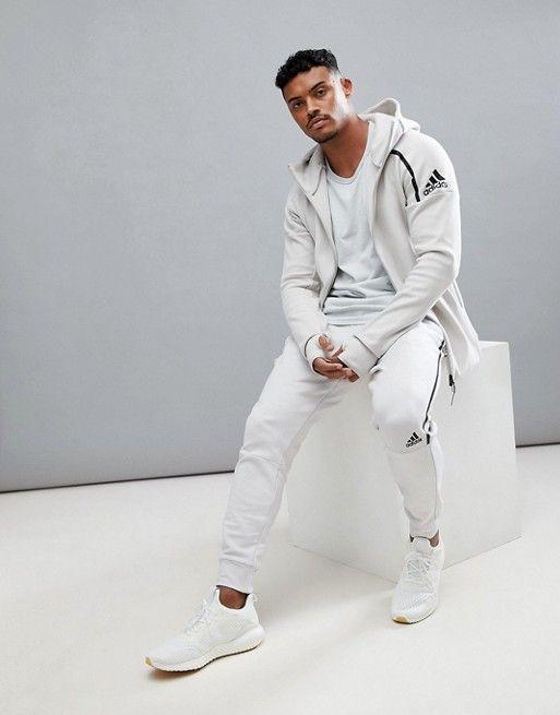 598a1439ec26a Adidas ZNE 2 hoodie in cream cw1347   esopman   Adidas, Fashion, Hoodies