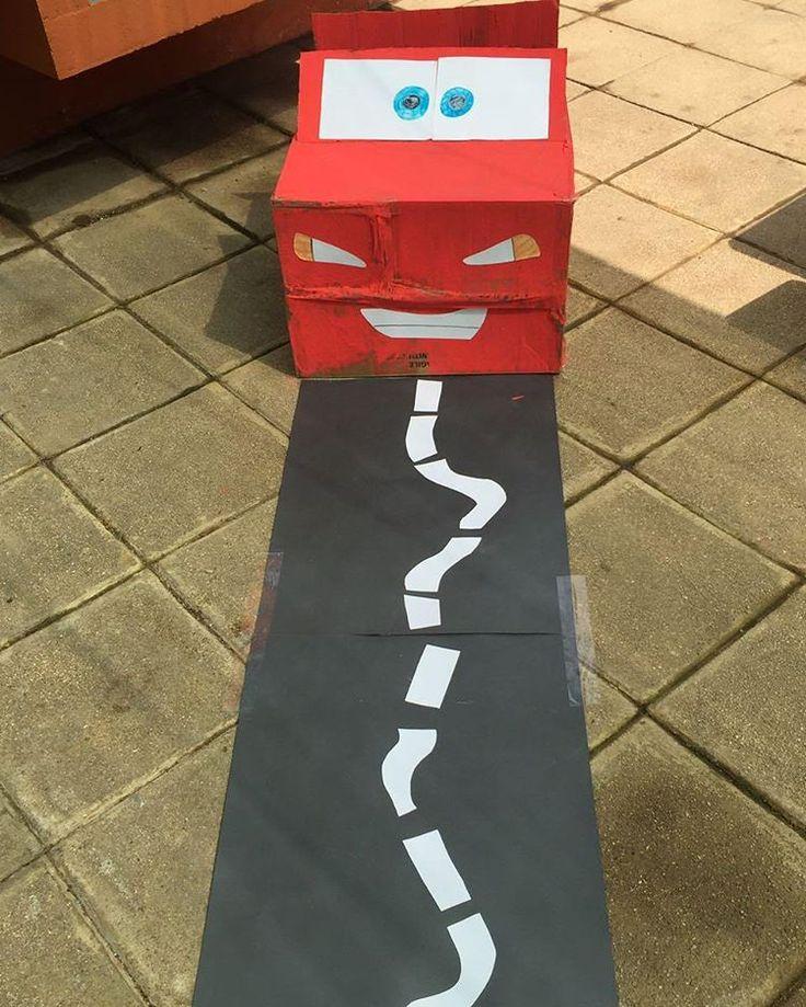 Rayo Mcqueen DIY para cumpleaños infantil. Birthday decoration for Cars theme.