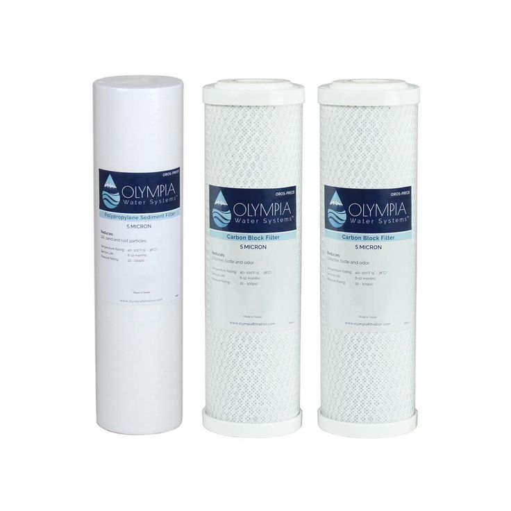 10 in. 3-Stage 5 Micron Replacement Pre-Filter Set (Stages 1-3) for Reverse Osmosis System