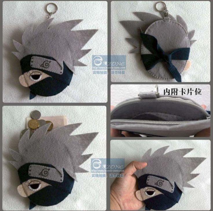 Anime Naruto Hatake Kakashi Keychain Keyrings Coin purse key case DIY Material $17.08