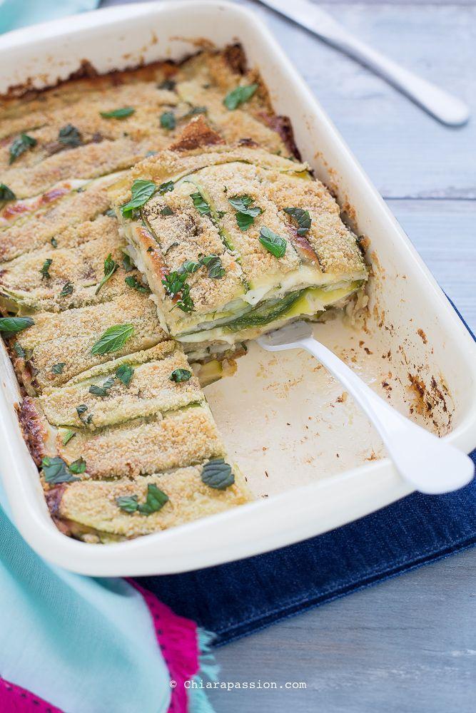 Parmigiana bianca di zucchine (tutto a crudo) - Senza friggere né grigliare - Chiarapassion