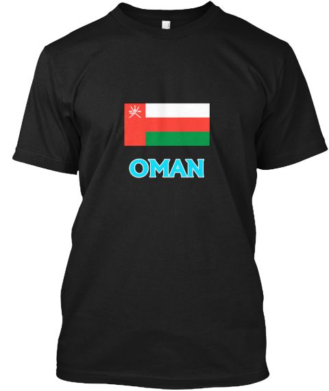 Oman Flag Classic Blue Design Black T-Shirt Front - This is the perfect gift for someone who loves Omani. Thank you for visiting my page (Related terms: I Heart Oman,Oman,Omani,Oman Travel,I Love My Country,Oman Flag, Oman Map,Oman Language, Oman Design #Omani, #Omanishirts...)