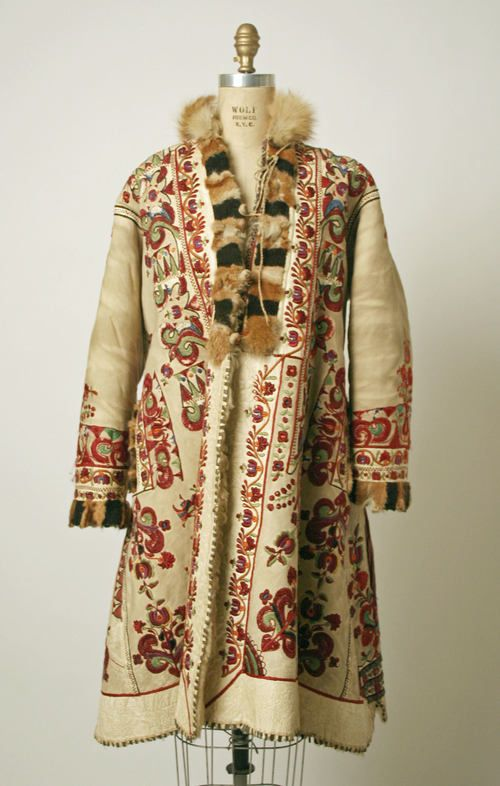 Antique Romanian leather coat.