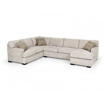 """Stanton Furniture GRoom/4 pc Sectional/141""""x106""""x35""""h  Options on L/R and Textiles/Pillows  Avail. OSHF"""