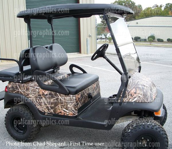 Camo Body Wraps Can Cover The Whole Cart Golf Cart
