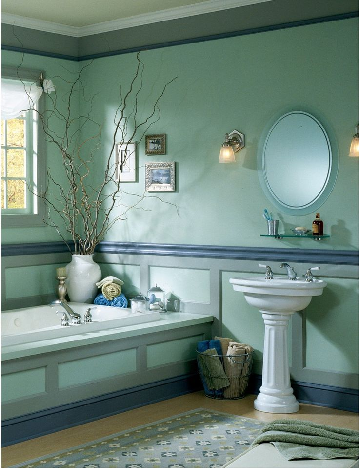 Green Bathroom Color Ideas 94 best bathroom paint & paper ideas images on pinterest | home