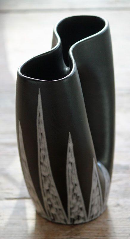 Rare Sculptural Vase, Holm Sørensen, Soholm, Burgundia, Denmark