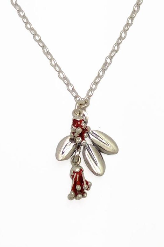 Pohutukawa Blossom and Leaf Necklace – $190.00 from RedManuka