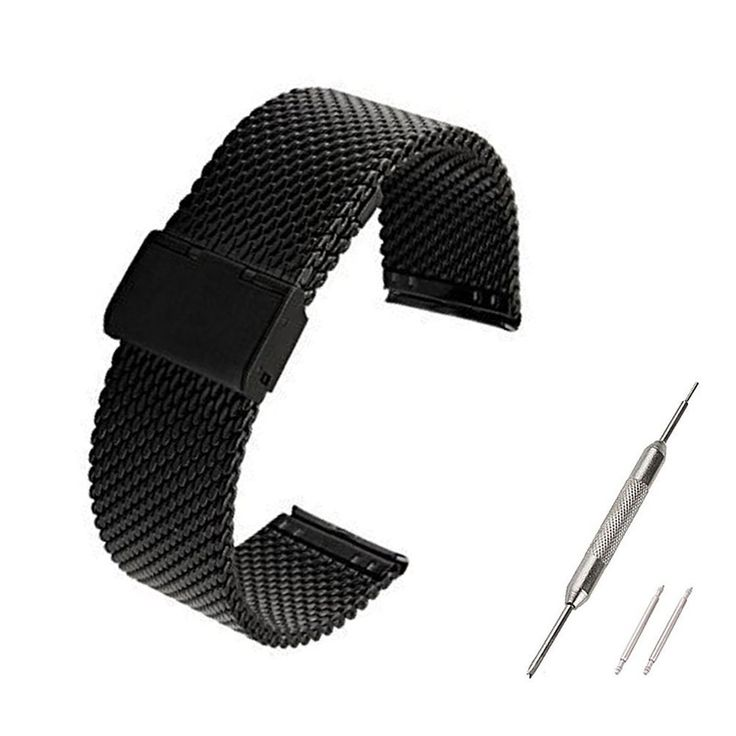 ECSEM® 1pc [Mesh Black] Replacement Stainless Steel Watch Band For Samsung Galaxy Gear 2 Live R382 Only - No Fitness Tracker or Other Parts. ECSEM® 1pc [Mesh Black] Replacement Stainless Steel Watch Band For Samsung Galaxy Gear 2 Live R382 Only - No Fitness Tracker or Other Parts. Fits Perfectly (Easy Interchangeable Design). High Quality Stainless Steel Material - Durable & Comfortable Fit. Wrist Band Only for Samsung Galaxy Gear 2 Live R382, not for other models, please choose the right...