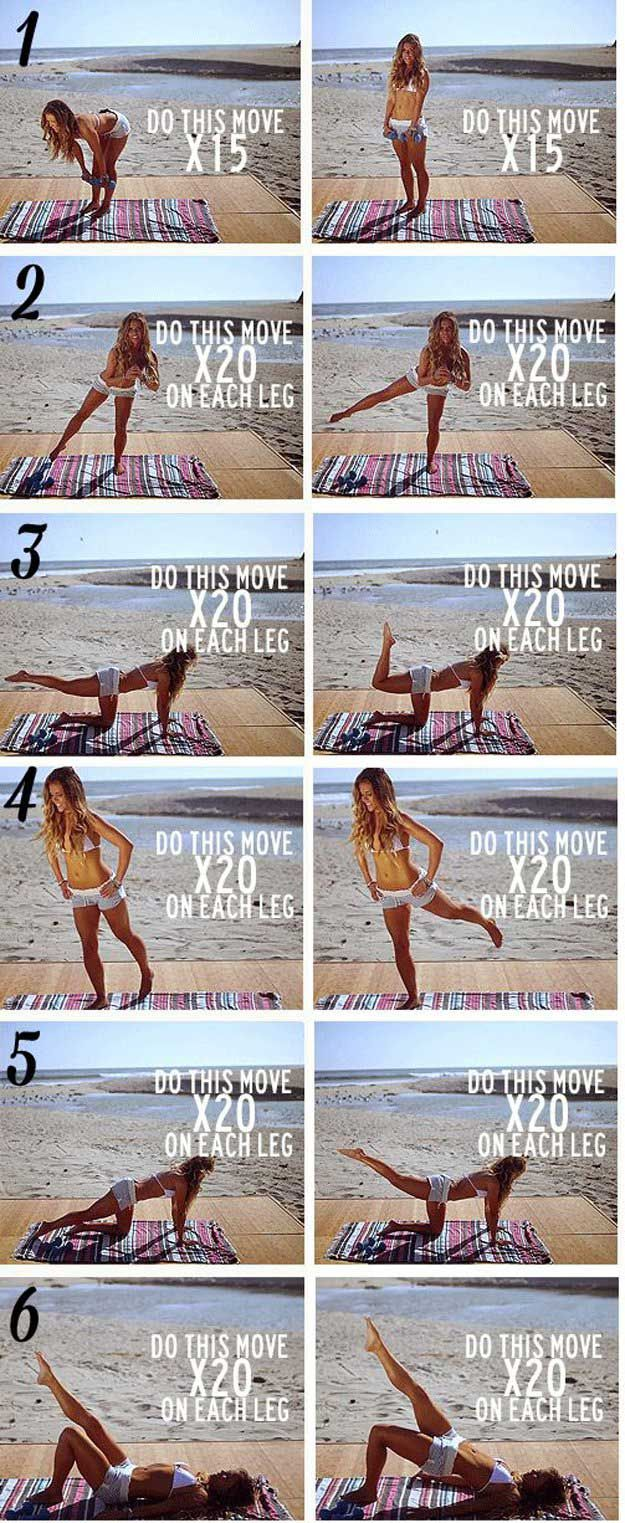 Workout   Super Fun FREE Things To Do At The Beach