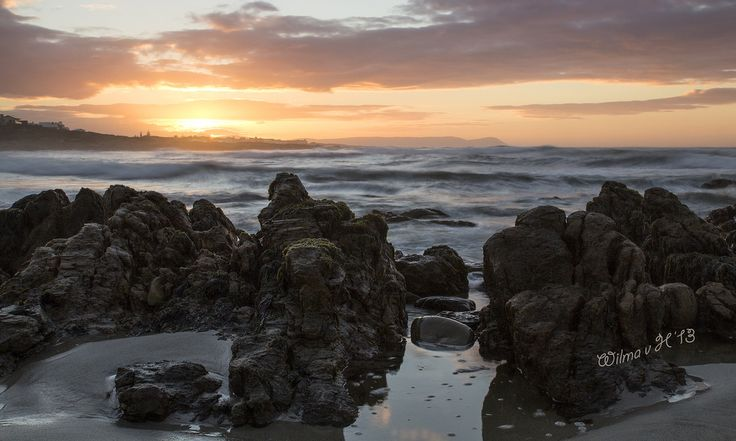 Sunrise at Onrusstrand - South Africa | https://farm3.staticflickr.com/2810/11928766655_20cca9ff28_b.jpg We Are South African - wearesouthafrican.com #SouthAfrica #CapeTown #Photography #TravelToSouthAfrica #MeetSouthAfrica