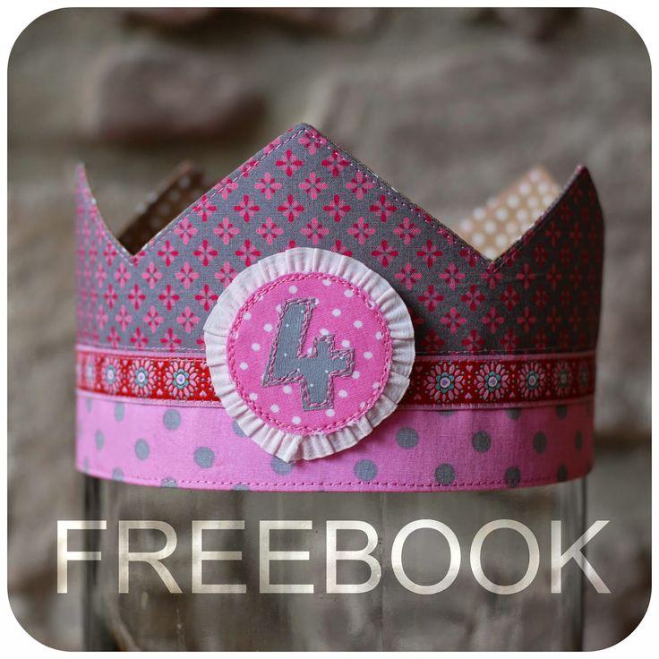 """Guten Abend ihr Lieben :)     Vielleicht warten ja viele von euch schon ganz gespannt auf das Freebook  """"Geburtstagskrone"""" das eige..."""