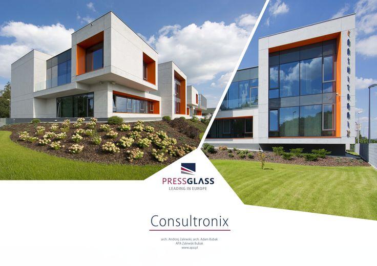 Consultronix CX2 office building in Zabierzow (Poland) / Budynek biurowy Consultronix CX2 w Zabierzowie.