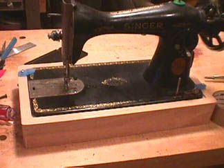 Build your own machine box base for old machines that you don't have a cabinet for