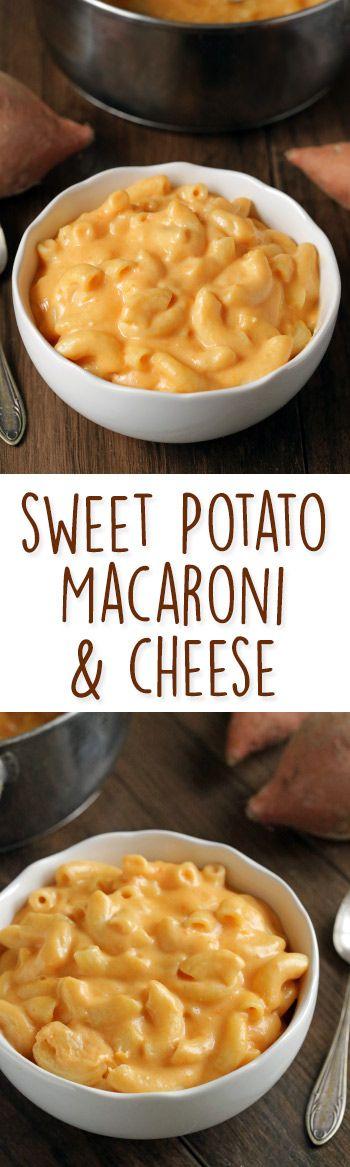 Sweet Potato Macaroni and Cheese {gluten-free and whole grain options}