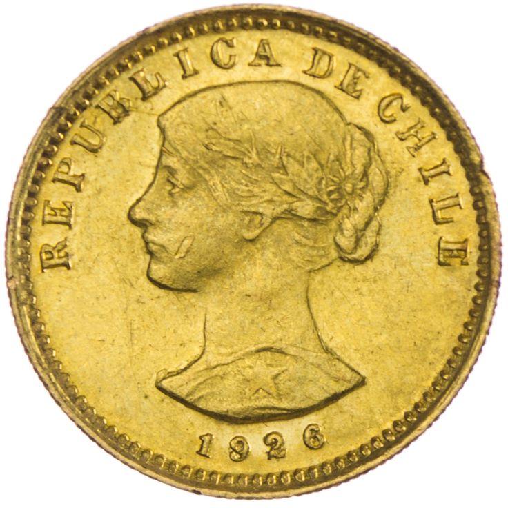 Chile 20 Pesos oder 2 Condores 1926 Gold