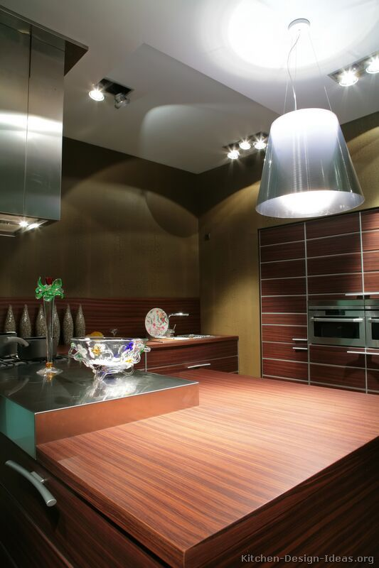 #Kitchen Idea Of The Day: Contemporary Kitchen With Nice Lighting. Part 70
