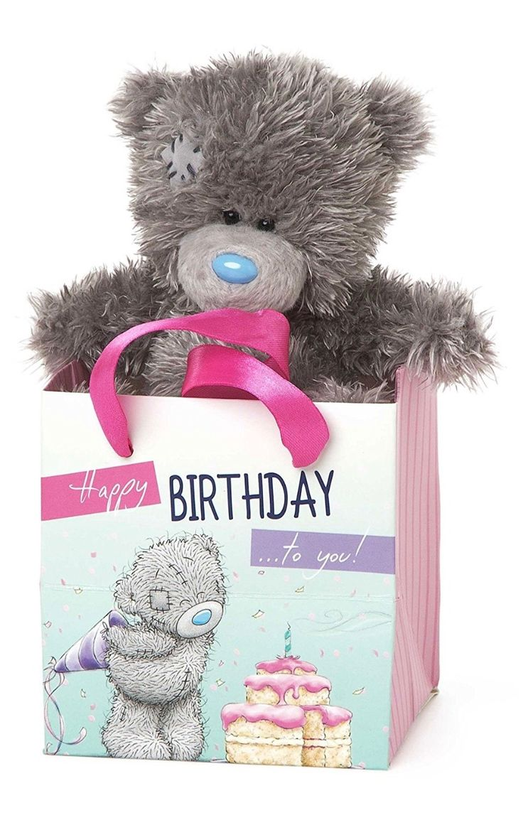 92 best tatty teddy friends images on pinterest pictures me to you 5 inch tall tatty teddy sitting in a happy birthday to amipublicfo Images