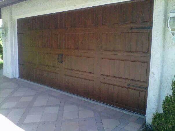 Rustic garage door with hardware our home soon for Rustic wood garage doors