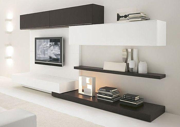 contemporary living room wall system OASI 208 Presotto Italia