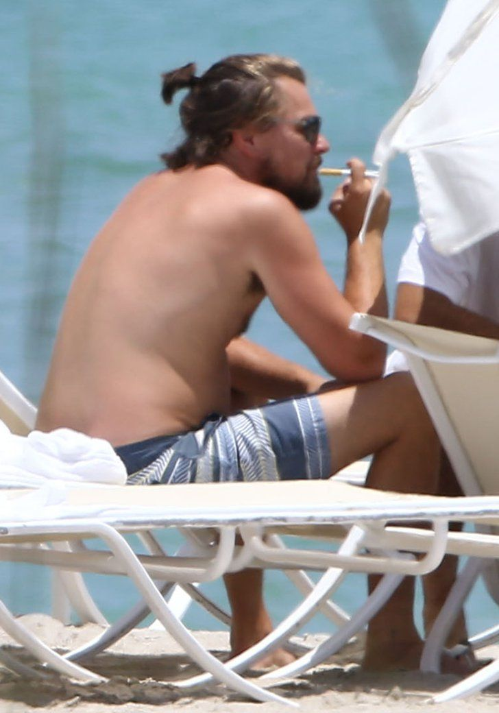 Pin for Later: Leonardo DiCaprio Goes Shirtless in Miami